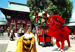 藤崎八旛宮の例大祭2019 金峰不動産前